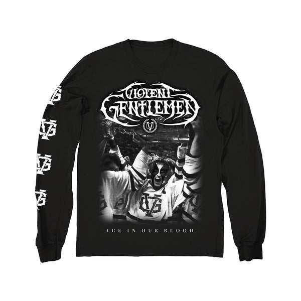 Black Tornado Long Sleeve Tee - Black - Men's T-Shirts - Violent Gentlemen