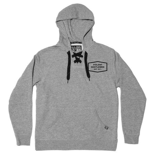 Classic Enforcer Pullover Hood - Gunmetal - Men's Fleece Tops - Violent Gentlemen