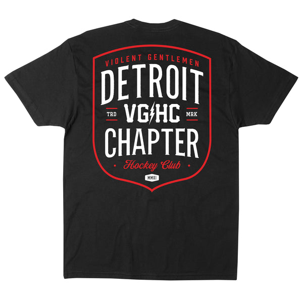 Detroit Chapter HC Tee - Black - Men's T-Shirts - Violent Gentlemen
