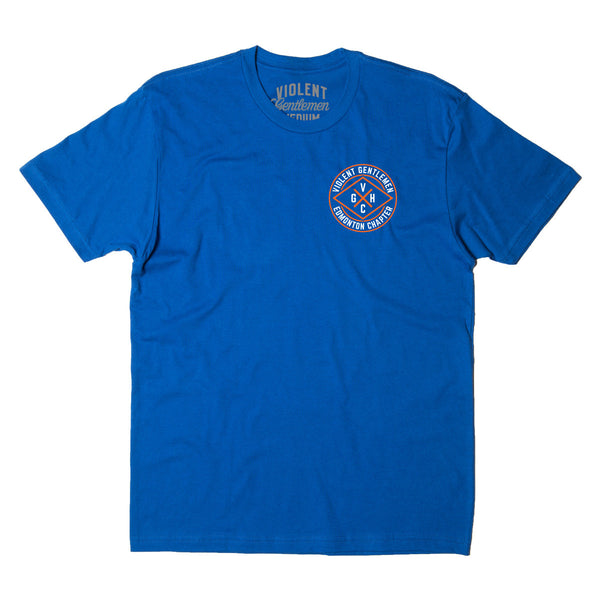 Edmonton Chapter HC Tee - Royal Blue - Men's T-Shirts - Violent Gentlemen