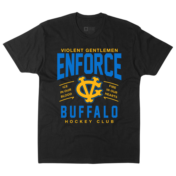Enforce Buffalo Tee - Black - Men's T-Shirts - Violent Gentlemen