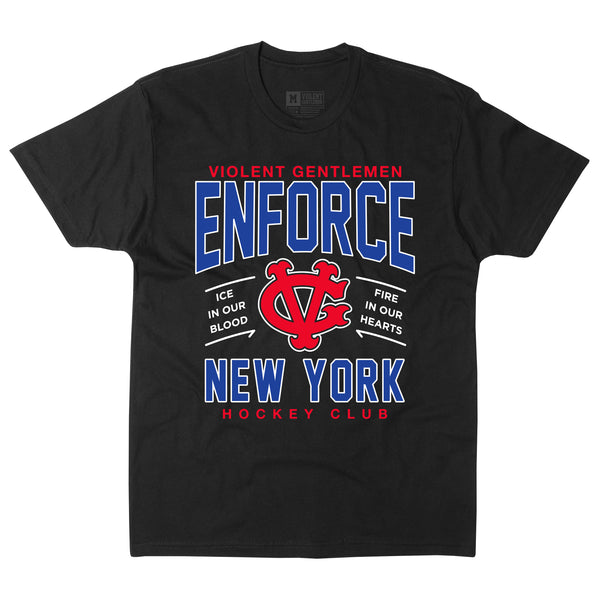 Enforce New York Tee - Black - Men's T-Shirts - Violent Gentlemen