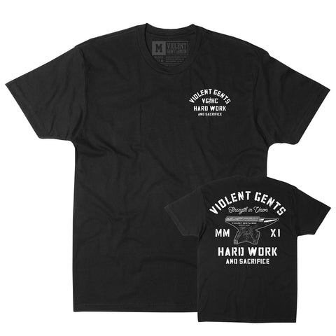 Union Tee - Black - Men's T-Shirt - Violent Gentlemen