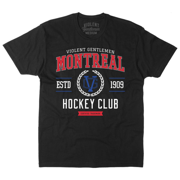 Montreal HC Tee - Black - Men's T-Shirts - Violent Gentlemen