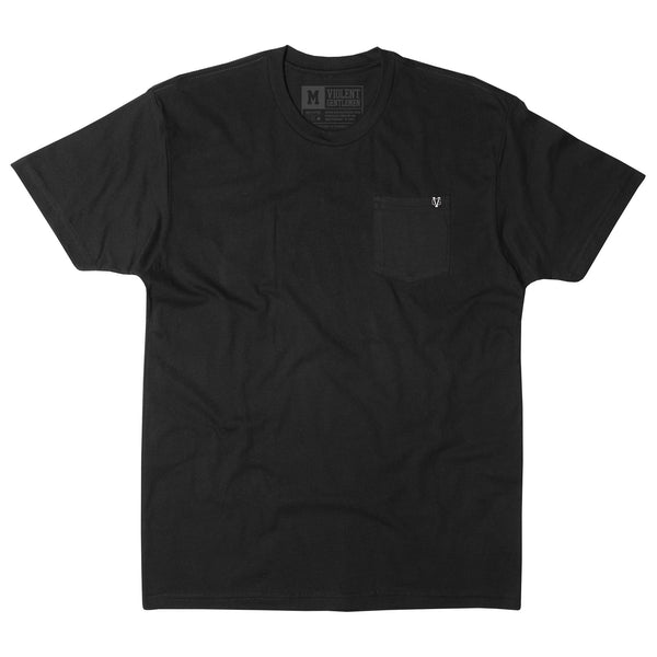 Pocket Tee - Black - Men's T-Shirt - Violent Gentlemen