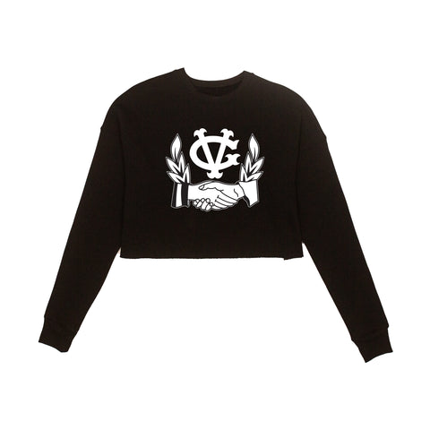 Shake On It Womens Crop Crewneck -  - Women's Fleece Tops - Violent Gentlemen