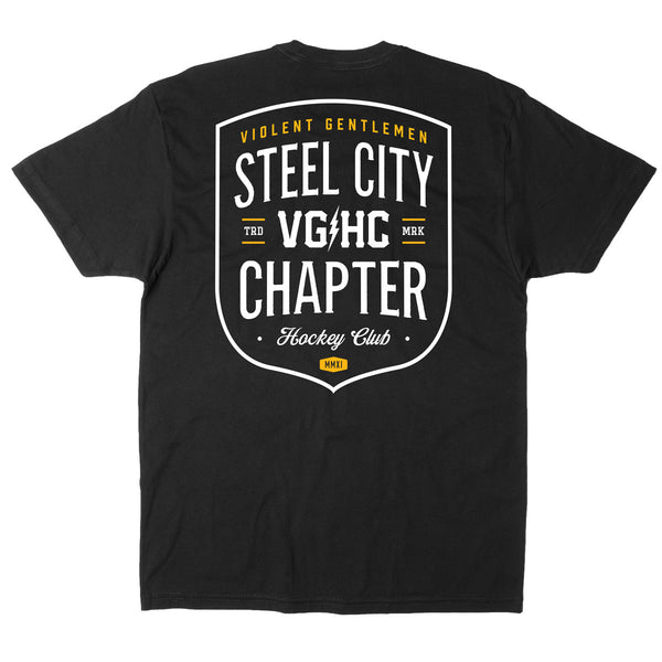 Steel City Chapter HC Tee - Black - Men's T-Shirts - Violent Gentlemen