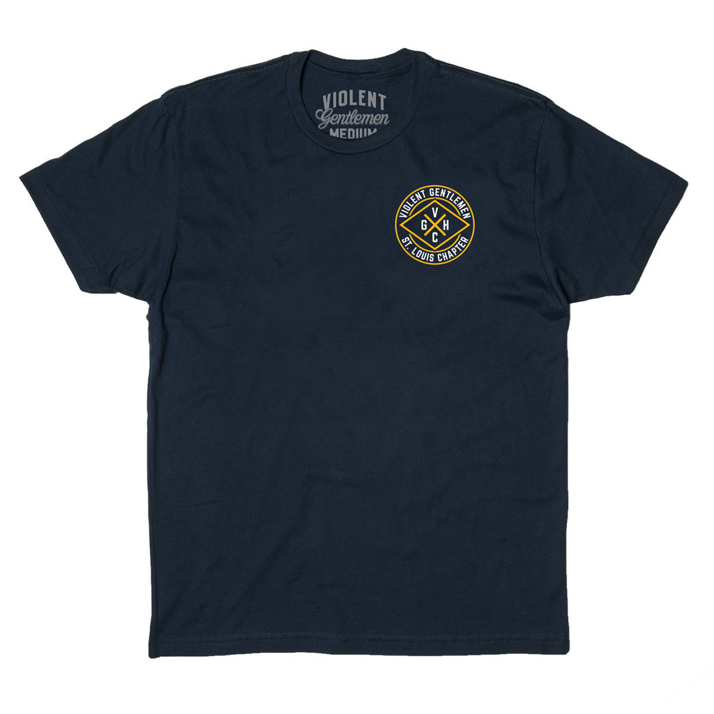 St. Louis Chapter HC Tee - Navy - Men's T-Shirt - Violent Gentlemen