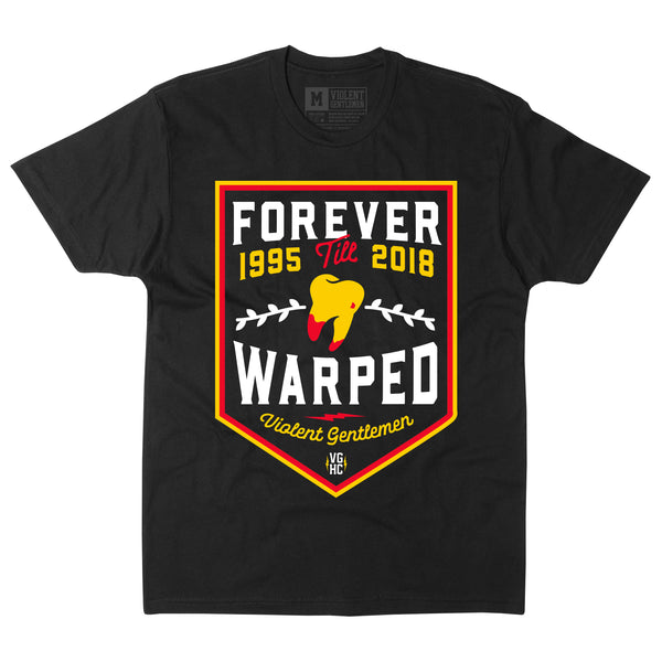 Forever Warped Tee - Black - Men's T-Shirts - Violent Gentlemen