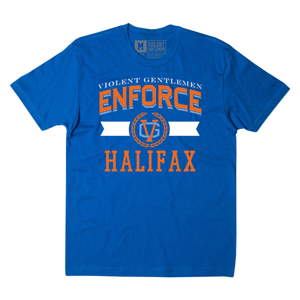 Enforce Halifax Tee - Royal Blue - Men's T-Shirts - Violent Gentlemen