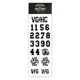 VG Helmet Stickers - Black - Accessories - Violent Gentlemen