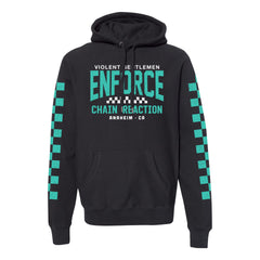 Enforce Chain Reaction Cross Grain Pullover Hood - Black - Men's Fleece Tops - Violent Gentlemen