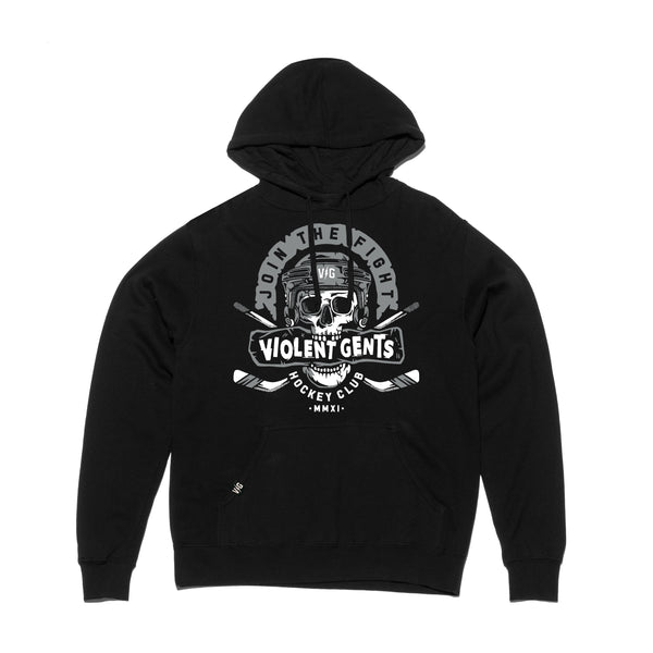Goonie Pullover Hood - Black - Men's Fleece Tops - Violent Gentlemen
