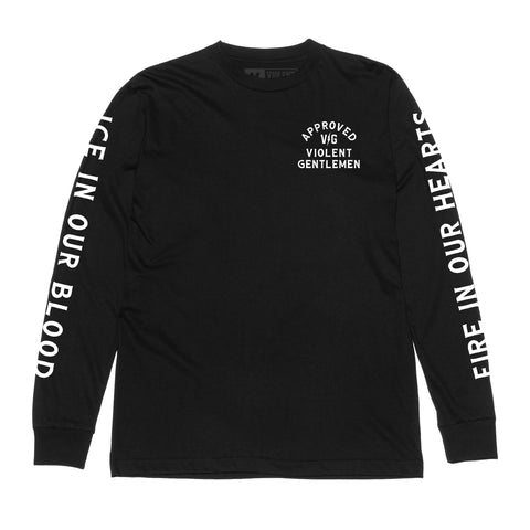 Approved Long Sleeve Tee -  - Men's Long Sleeve T-Shirt - Violent Gentlemen
