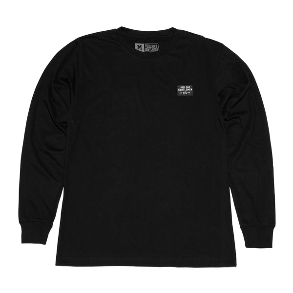 Black Label Long Sleeve Tee -  - Men's Long Sleeve T-Shirt - Violent Gentlemen