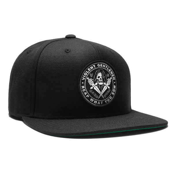 Reaper Snapback - Black - Accessories Hats - Violent Gentlemen