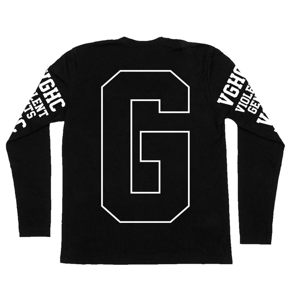 Block Long Sleeve Tee - Black - Men's T-Shirts - Violent Gentlemen