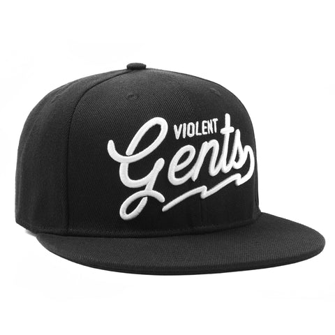 Script Snapback - Black - Hats - Violent Gentlemen