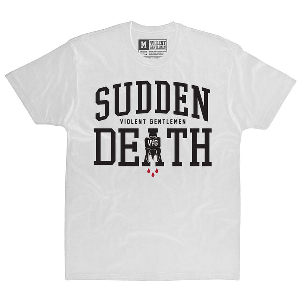 Sudden Death Tee - White - Men's T-Shirts - Violent Gentlemen