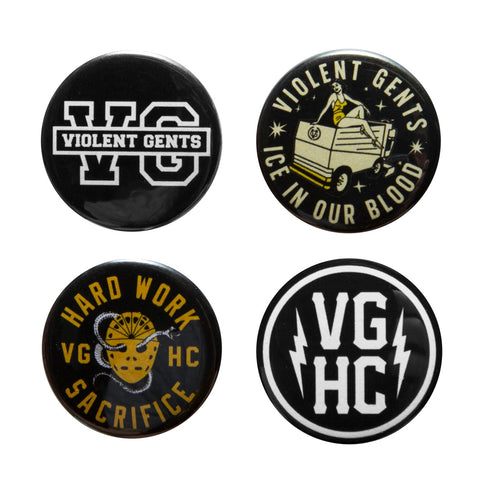 Sacrifice Button Pack - Black - Accessories - Violent Gentlemen