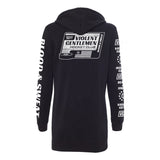 Blood & Sweat Womens Hoodie Dress -  - Women's Fleece Tops - Violent Gentlemen