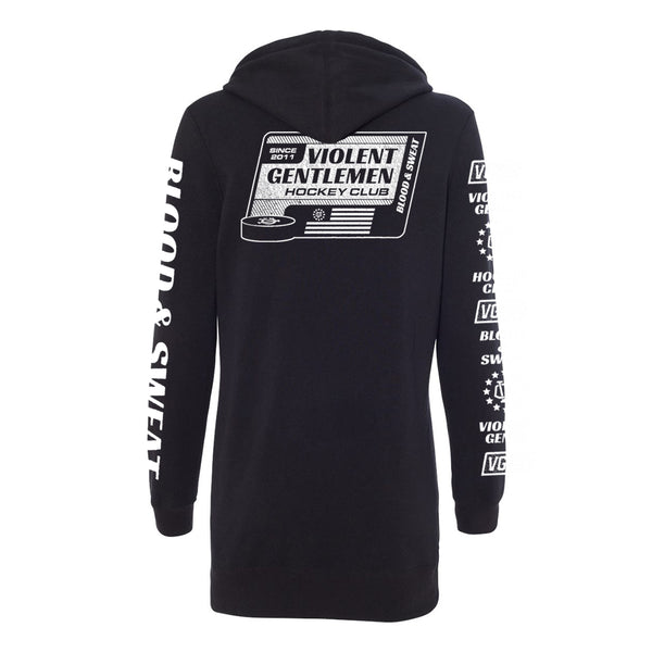 Blood & Sweat Womens Hoodie Dress - Black - Women's Fleece Tops - Violent Gentlemen