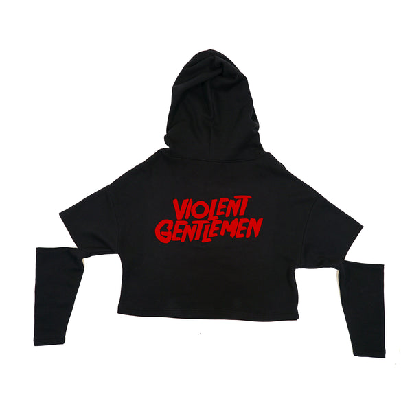 Jason Cheevers Womens Cut Out Hoodie - Black - Women's Fleece Tops - Violent Gentlemen