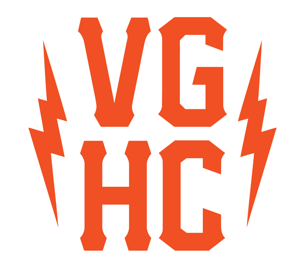 VGHC Stacked Die Cut Sticker - orange - Accessories - Violent Gentlemen