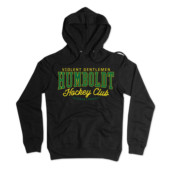 Humboldt Hockey Club Pullover Hood - Black - Men's Fleece Tops - Violent Gentlemen