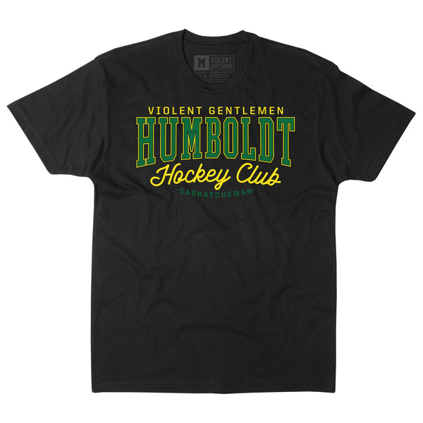Humboldt Hockey Club Tee - Black - Men's T-Shirts - Violent Gentlemen