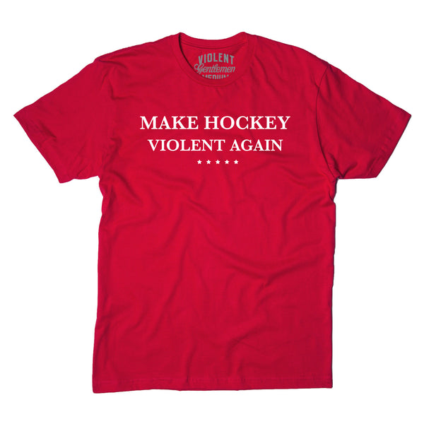 Make Hockey Tee - Red - Men's T-Shirts - Violent Gentlemen