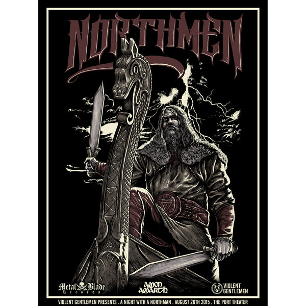 Northmen Print - Black - Art - Violent Gentlemen