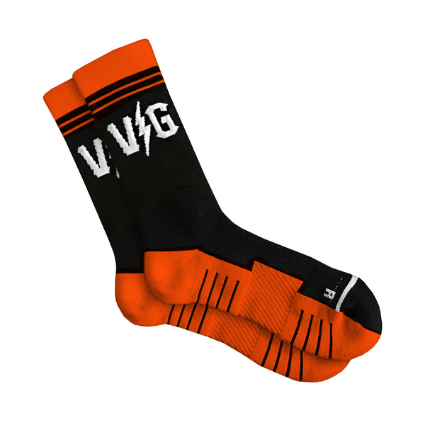 VG Performance Socks - Black/Orange - Accessories - Violent Gentlemen