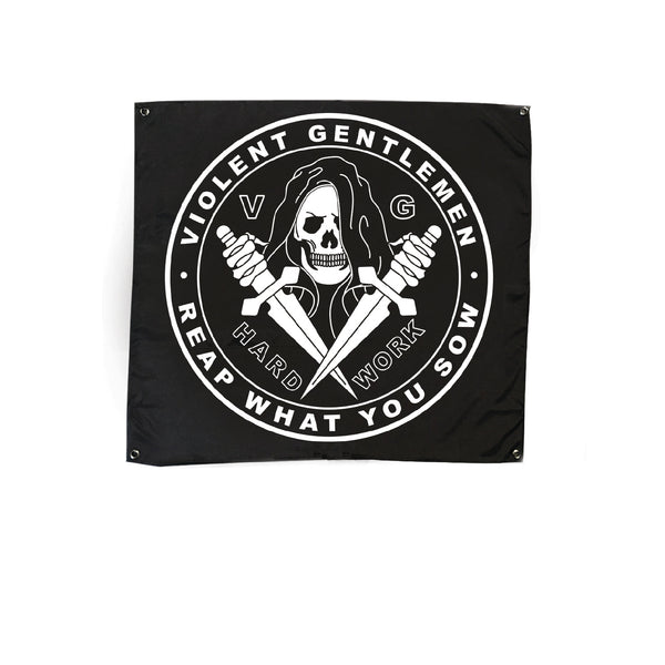 Reaper Flag - Black - Accessories - Violent Gentlemen
