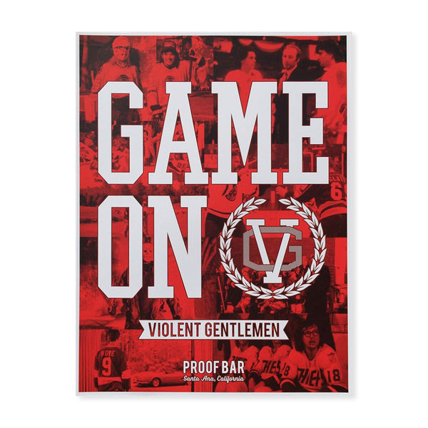 Game On Print - Black - Art - Violent Gentlemen