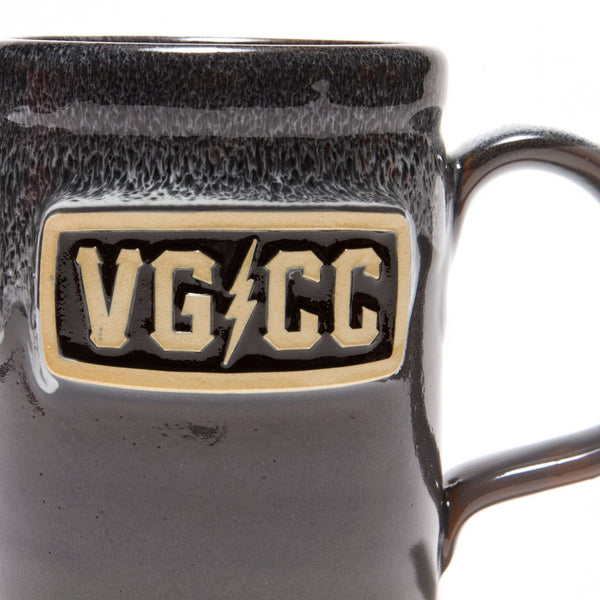 Bolts Ceramic Coffee Mug - Grey w/ White - Accessories - Violent Gentlemen