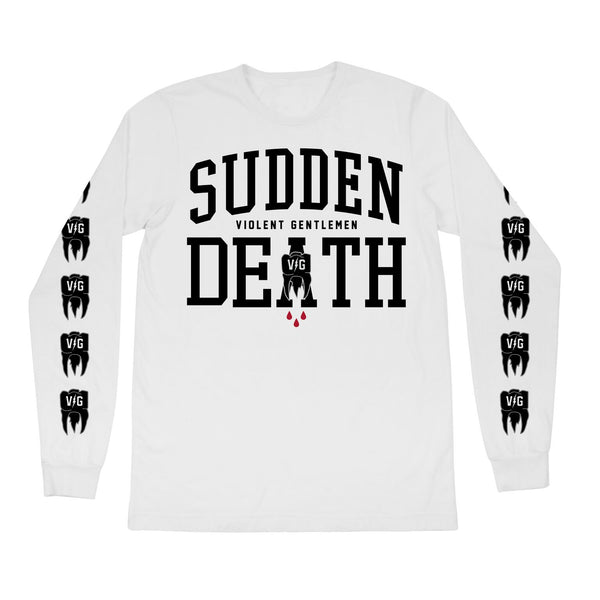 Sudden Death Long Sleeve Tee - White - Men's T-Shirts - Violent Gentlemen