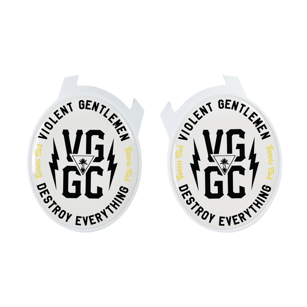 Violent Gentlemen VG/GC Logo Elite Speaker Plates - White - Accessories - Violent Gentlemen