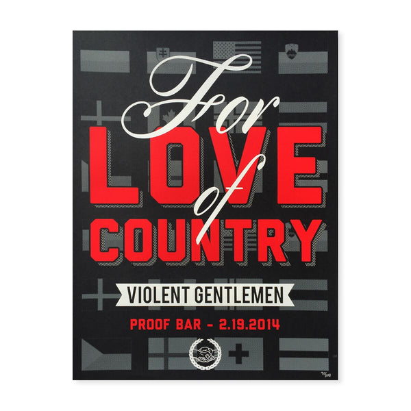 For Love Of Country Print - Black - Art - Violent Gentlemen