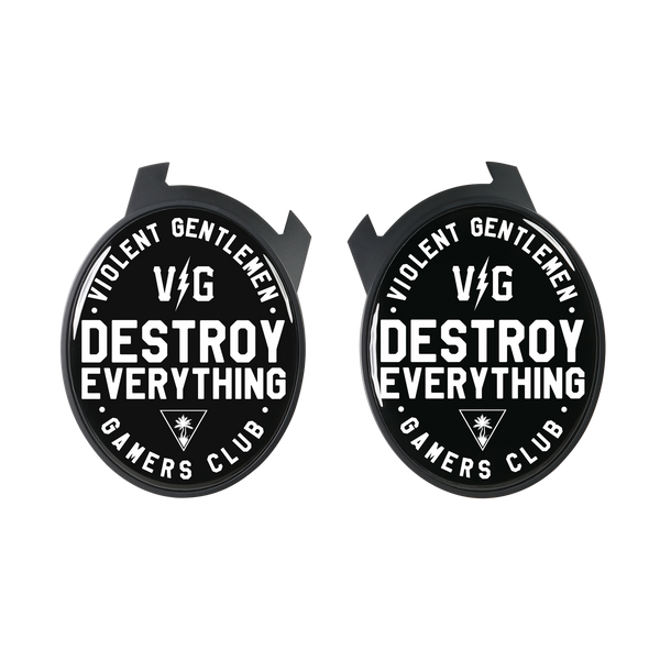 Violent Gentlemen Destroy Everything Elite Speaker Plates - Black - Accessories - Violent Gentlemen