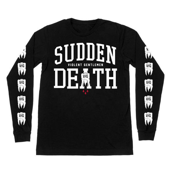 Sudden Death Long Sleeve Tee - Black - Men's T-Shirts - Violent Gentlemen