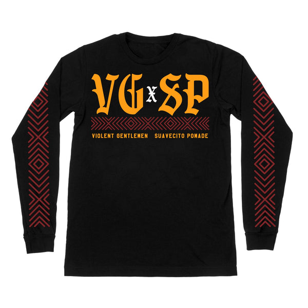 Violento Serape Long Sleeve Tee - Black - Men's T-Shirts - Violent Gentlemen