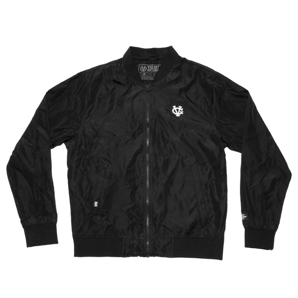 Winger Bomber Jacket - Black/Black - Men's Jackets - Violent Gentlemen