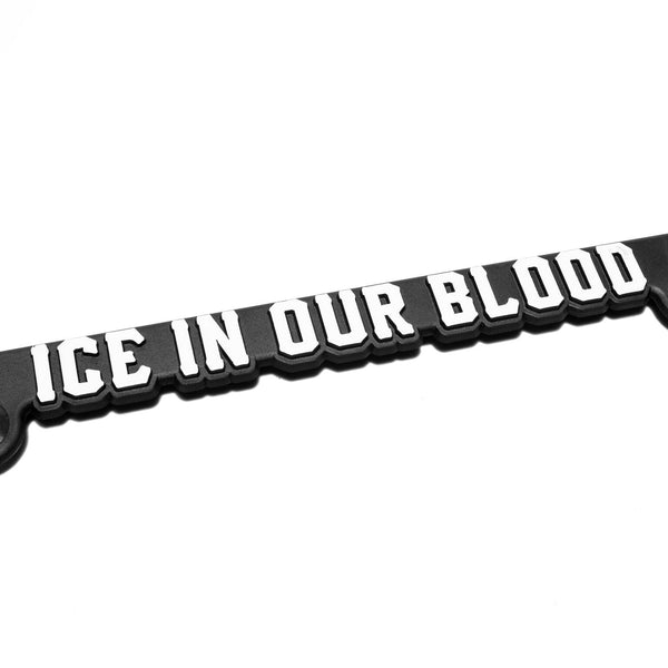 Ice In Our Blood License Plate Frame - Black - Accessories - Violent Gentlemen