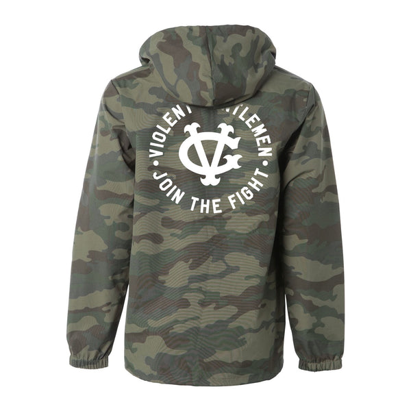 Fight Pullover Jacket - Camo - Men's Jackets - Violent Gentlemen