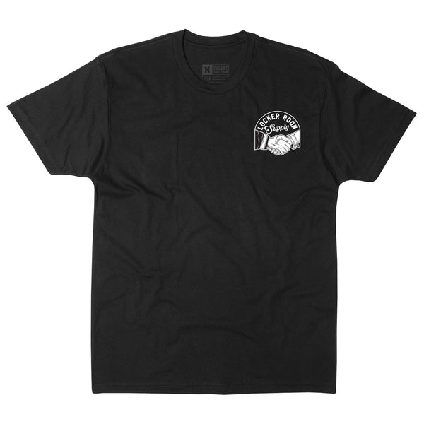 Locker Room Supply Tee - Black - Men's T-Shirts - Violent Gentlemen