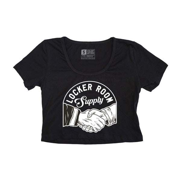 Locker Room Supply Womens Crop Tee - Black - Women's T-Shirts - Violent Gentlemen