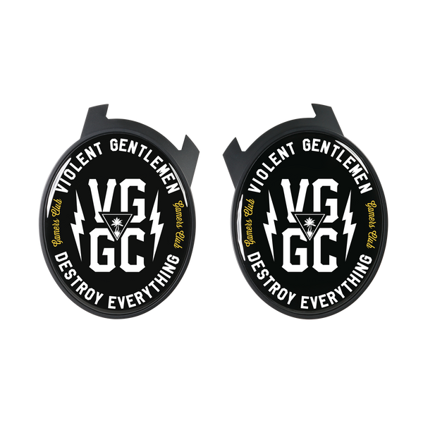 Violent Gentlemen VG/GC Logo Elite Speaker Plates - Black - Accessories - Violent Gentlemen
