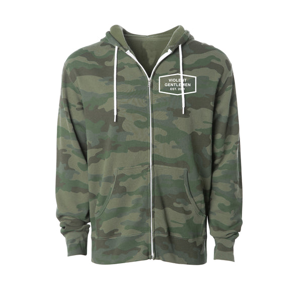 Built Zip Hood - Forest Camo - Women's Fleece Tops - Violent Gentlemen