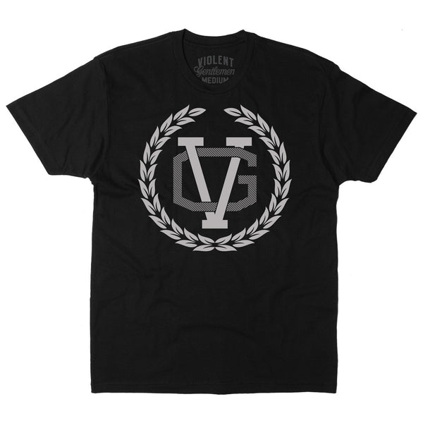 Crest Tee - Black/Silver - Men's T-Shirts - Violent Gentlemen